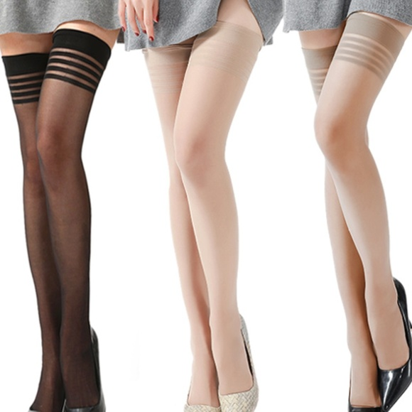 d6be44062 Sexy See Through Overknee Thigh High Socks